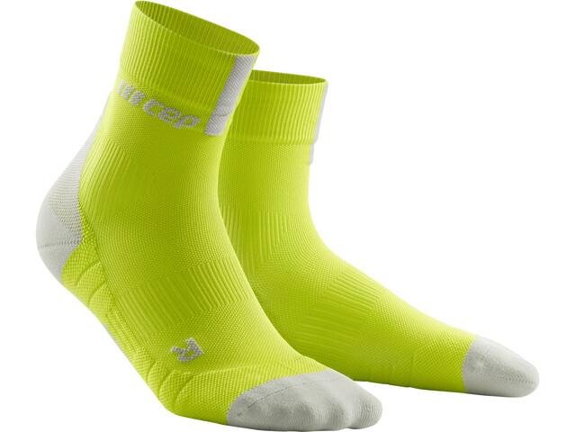 cep Short Socks 3.0 Løbesokker Herrer grå/grøn (2019) | Strømper